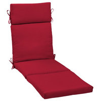 Arden Companies Better Homes and Gardens Outdoor Patio Chaise Cushion, Really Red Texture
