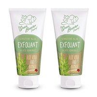 Green Beaver Sensitive Aloe Exfoliant (Pack of 2) with Organic Shea Butter, Arctium Lappa Root Extract, Sunflower Seed Oil, Pomel Peel Oil and Aloe Vera Extract, Ideal for Acne Prone Skin, 2 oz
