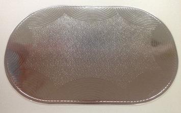 Better Home Plastics SET OF 6 MYLAR SILVER PLACEMATS, METALLIC LOOK - Seashell