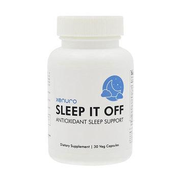 Xenuro Sleep It Off - Antioxidant Sleep Support - Natural Sleep Aid with Tart Cherry, SOD, L-Theanine, GABA, Melatonin, 5-HTP - Non Habit Forming Extra Strength Sleeping Pill