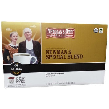 man's Own Organics K-cup Portion Pack for Keurig K-cup Brewers, Newman's Own Special Blend 80 count