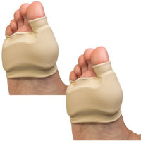 Poly Gel (Set of 2) Double Bunion Sleeves Medium - Walking Comfort Padded Cushions