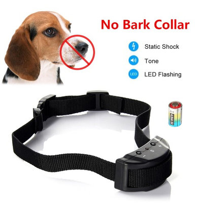 Besmall Dog No Bark Collar Anti-bark Shock Collar Terminator for Bark Control 6 Levels Adjustable Sensitivity Control, No Harm W