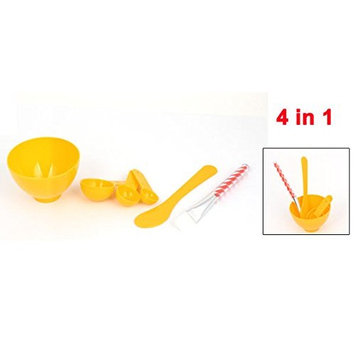 uxcell Facial Beauty Skin Care Mask Mixing Bowl Stick Brush Gauge 4 in 1