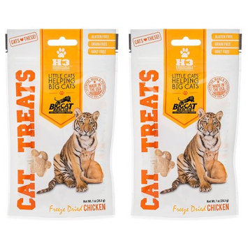 Big Cat Rescue 840235137979 2 - 1 oz Packages Freeze Dried Chicken Treats for Cats