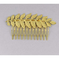 Gold shiny Laurel Leaf crown Leaves hair comb greek toga roman costume athena