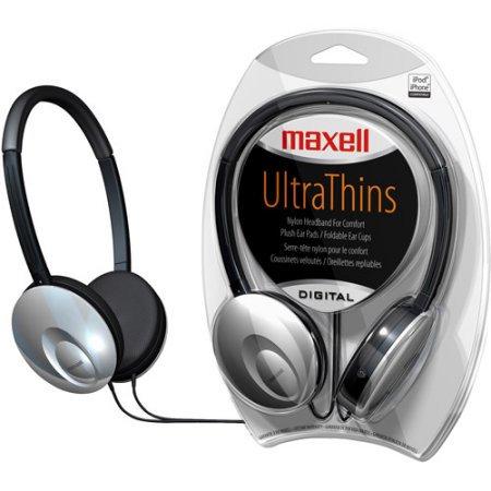 Maxell 190248 Uts UltraThin Headphones Silver