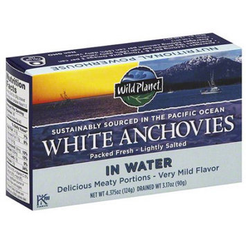 Wild Planet White Anchovies in Water, 4.375 oz, (Pack 12)