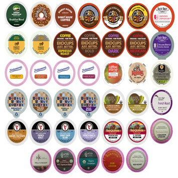 Perfect Samplers Coffee Variety Sampler Pack for Keurig K-Cup Brewers, 40 Count