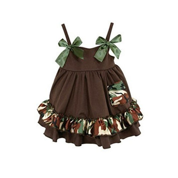 Stephan Baby Ruffled Swing Top and Diaper Cover, Camo Print, 12-18 Months
