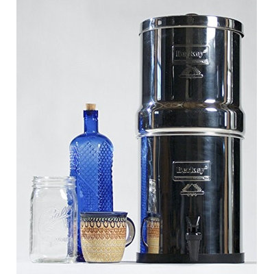 Berkey BK4x4-CF Big Berkey 2.25 gal. Stainless Steel Water Filter with Ceramic Filters