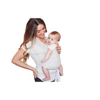 Seven Sling Baby Infant Wrap Carrier Multiple Ways 8-35 Lbs -Gray Stripes-