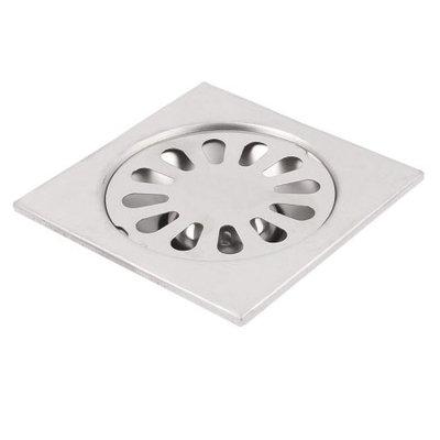 Kitchen Bathroom Shower Stainless Steel Square Sink Floor Drain Grate Strainer