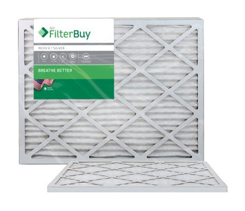 AFB Silver MERV 8 24x30x1 Pleated AC Furnace Air Filter. Filters. 100% produced in the USA. (Pack of 2)
