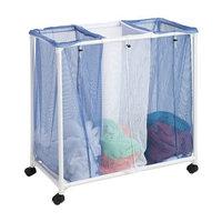 Honey Can Do 3 Bag Mesh Laundry Sorter Blue White 1.0 ea(pack of 3)