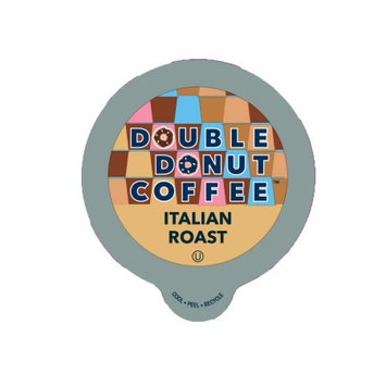 Double Donut Italian Roast Coffee Single Serve Cups For Keurig K cup Brewer, 12 Count