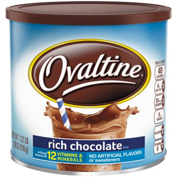Nestle Ovaltine Drink Mix, Rich Chocolate, 18 Oz.