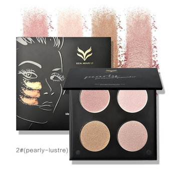 Blusher and Bronzer Highlighter,Molie 4 Color Compact Glitter Powder Eyeshadow Palette Highlighting Contour Blush Kit Powder Facial Foundation Matte