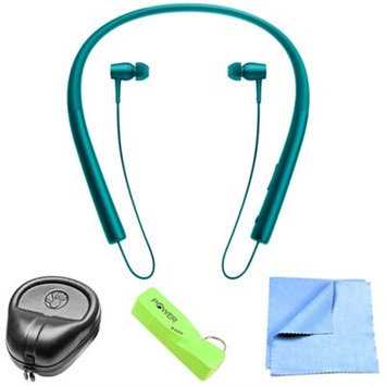 Sony Wireless In-ear Bluetooth Headphones w/ NFC - Viridian Blue w/ Power Bank Bundle