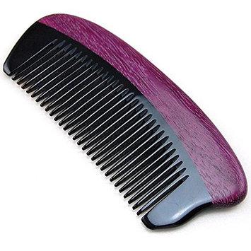 Handmade Natural Buffalo Horn & Purple Heart Wood Massage Hair Comb / Beard Comb / Mustache Comb, Anti Static Pocket Horn Comb 5
