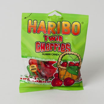 Dollaritemdirect GUMMI CANDY HARIBO TWIN CHERRIES 4OZ BAG, Case Pack of 12