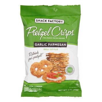 Snack Factory Pretzel Crisps - Garlic Parmesan - 3 oz - 8 ct