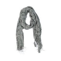 Laced Lightweight Colorful Rectangle Gray Scarves
