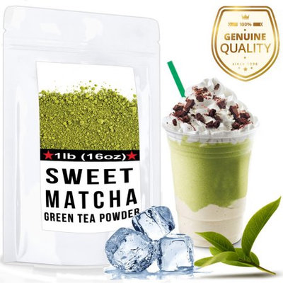 Wmbr Corp Sweet Matcha (16oz) Made with USDA Organic, Vegan, Non-GMO Green Tea Powder - 30 Servings