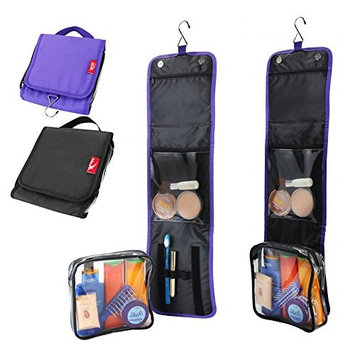 Travel hang up wash bag with 20x20x5cm detachable toiletry bag perfect for cabin hand luggage