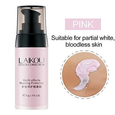 WEKA Multi-effects Anti Aging Face Smooth Primer Nursing Protector Waterproof Oil-control Moisture Make Up Base Isolation Cream---Sakura Pink