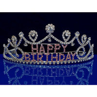 SparklyCrystal Happy Birthday crystal Tiara crown 6669