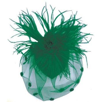 Zad Womens Feather & Mesh Fascinator Hair Clip