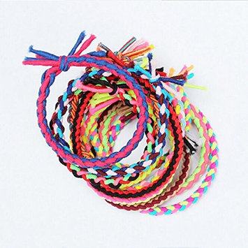 Headband Rope Elastic Girl Hair Ties Bands Scrunchie Ponytail Holder 10pcs