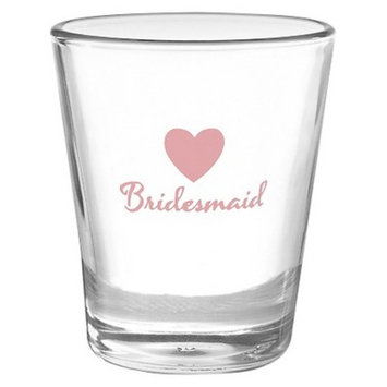 Heart Wedding Party Shot Glass - Bridesmaid