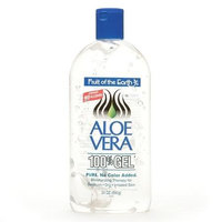 Fruit of the Earth Aloe Vera 100% Gel Crystal Clear 24.0 oz.(pack of 4)