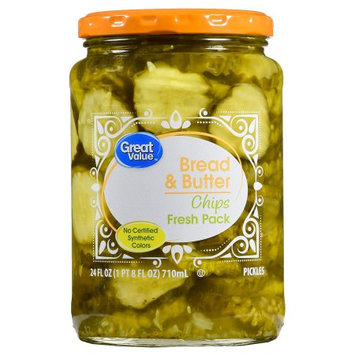Wal-mart Stores, Inc. Great Value Bread & Butter Pickle Chips, 24 oz