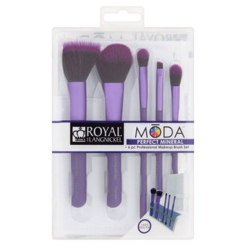 Royal Brush Moda - 6 Piece Perfect Mineral Brush Set & Case - Purple
