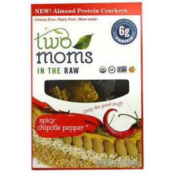 Two Moms in the Raw Organic Almond Protein Crackers Spicy Chipotle Pepper 4.5 oz - Vegan