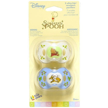 Disney Baby Sincerely Pooh Ultra Kip Newborn Pacifiers, 0+ Months