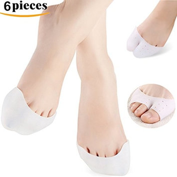 Kalevel 6pcs Toe Separators Silicone Toe Protector Ballet Dancer Fore Foot Cushion Pads