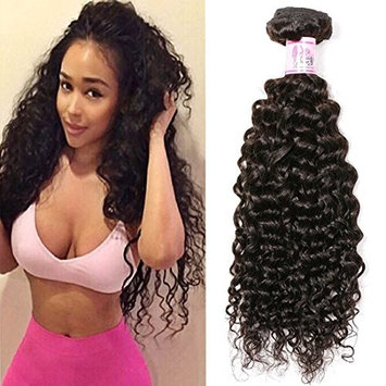 Beauty Forever Brazilian Curly Hair 1 Bundle 95-100g Hair Weave 100% Unprocessed Human Virgin Hair Extensions Natural Color Can Be Dyed And Bleached