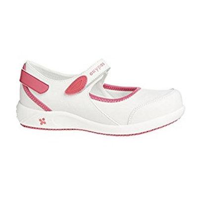 Oxypas Move Nelie, Anti-static, Anti-slip, Comfortable Leather Nursing Shoes - Designed for Medical Professionals (3.5 UK (EU 36), White (FUX))
