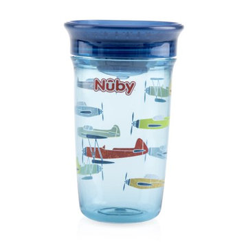 Luv N' Care, Ltd. Nuby Tritan 10oz Wonder Cup with Hygienic Cover, Airplanes