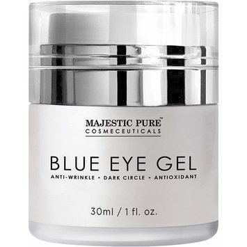 Majestic Pure Blue Eye Gel - Reduce the Appearances of Dark Circles, Puffiness, Bags and Wrinkles - Eye Cream for Under and Around Eyes - 1.0 fl. oz.