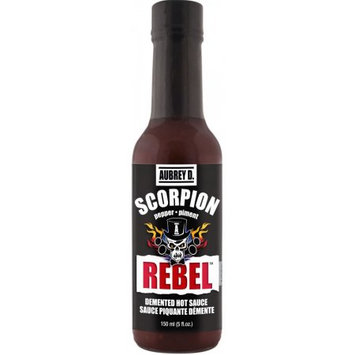 Hot Ghost Peppers & Spicy Habanero Blend in the Aubrey D. Rebel Scorpion Hot Sauce That Makes Hot Heads Cry in Pleasure