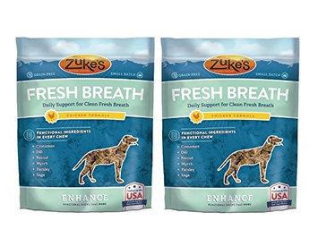 Zukes Zuke's Enhance Fresh Breath Functional Chew for Dogs, Chicken - 5oz (2 Pack)