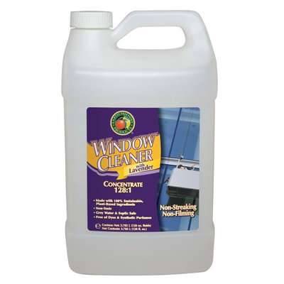 EARTH FRIENDLY PRODUCTS PL9963/04 Glass Cleaner,1 gal, Lavender, Clear
