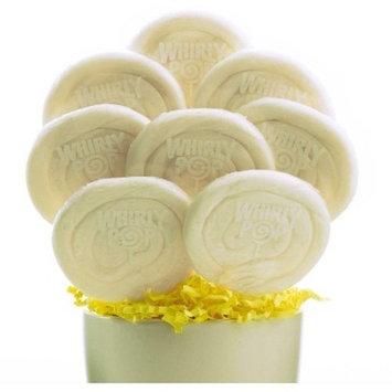 8 White Lollipops