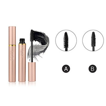O. TWO. O Fiber Lash Mascara,Make Up Thickening & Lengthening Mascara Long Black Lash Extension Eyelash Wand Wire & Silicone Brush