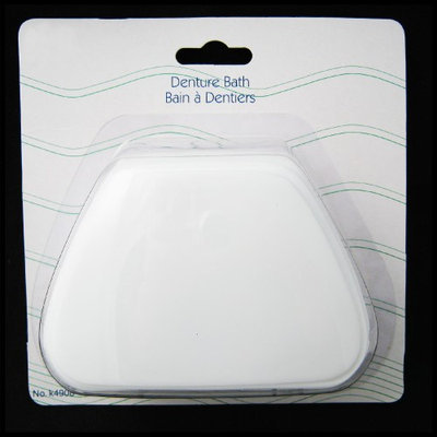 Atb White Denture Bath Retainer Box Orthodontic Mouth Guard Dental Storage Container